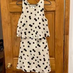 Dolce Vita cream and black polka dot dress